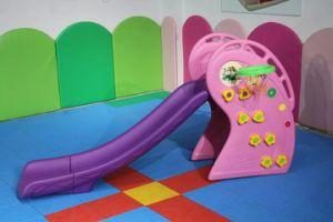 Kindergarten Plastic Slide Swing Set for Indoor Playground pictures & photos