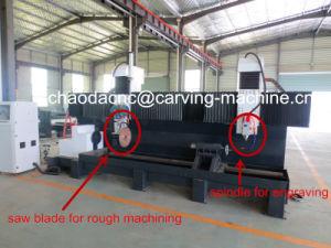 CNC Lathe Machine for Column Cylinder Stone Pillars pictures & photos
