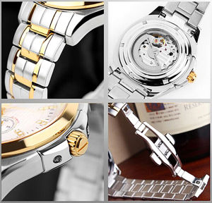 New Style Japan Automatic Movement Stainless Steel Fashion Watch Bg411 pictures & photos