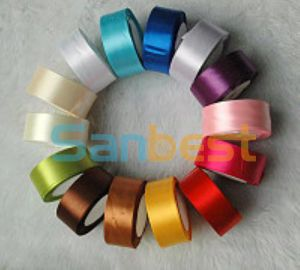 Polyester Single Face Satin Ribbon for Festival pictures & photos