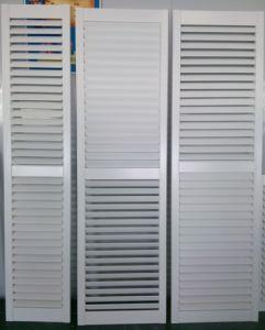 L Frame PVC Fauxwood 64 mm Blade Hidden Tilter Rod Window Plantation Shutters pictures & photos