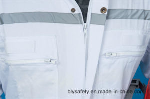 65%P 35%C Long Sleeve High Quality Safety Coverall Workwear with Reflective (BLY1021) pictures & photos