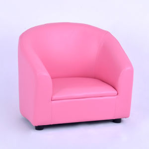Modern Baby Round Back Pink PVC Kids Sofa Chair (SF-12) pictures & photos