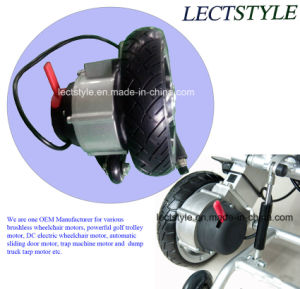 10inch Foldwheel Lightweight Power Wheelchair Motor & Power Standing Wheelchair Motor pictures & photos