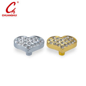 Furniture Hardware Heart Shape Drawer & Cabinet Knob with Crystal pictures & photos