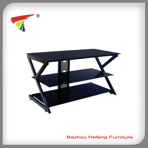 Newest Design Glass TV Stand (TV096) pictures & photos