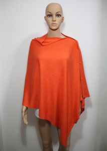 Lady Fashion Acrylic Knitted Button Shawl (YKY4405-3) pictures & photos