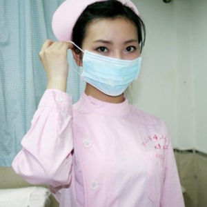 Disposable One-off Surgical Medicial Face Mask Tie-on pictures & photos