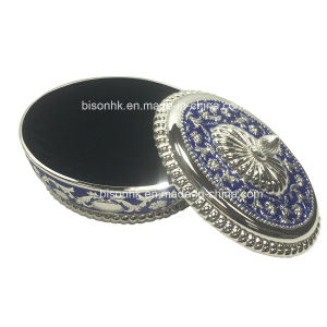 Oval Silver Metal Box for Jewelry pictures & photos