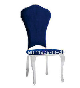 Modern Hotel Banquet King Throne Fabric Stainless Steel Dining Chairs pictures & photos