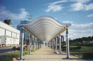 Keqi Weather Resistant Poloycarbonate Solid Sheet for The Railway Station Aisle Covering pictures & photos
