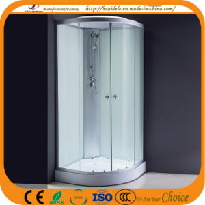 Low Tray White Glass Shower Set (ADL-8603) pictures & photos