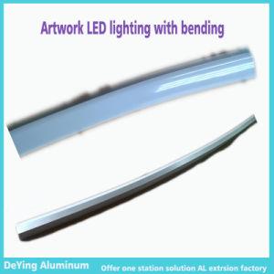 Competitive Aluminium/Aluminum Extrusion Profile Artistic Bending LED Lighting pictures & photos