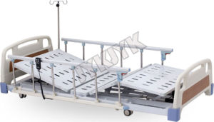 Three Functions Super Low Electric Hospital Bed pictures & photos