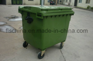 Hot Sale Plastic Garbage Can Trash Can Rubbish Can with Wheels pictures & photos