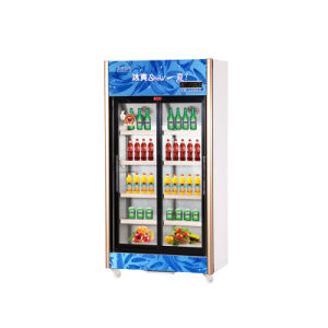 518L Vertical up Unit Sliding Multi-Door Display Refrigerator pictures & photos