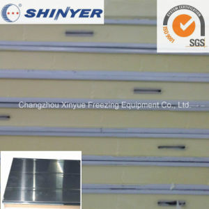 75mm Polyurethane PU Sandwich Panel with 0.5mm Stainless Steel Plate pictures & photos