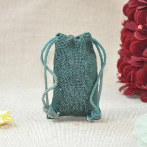 Custom Jute Drawstring Gift Promotion Eco Bag for Packaging