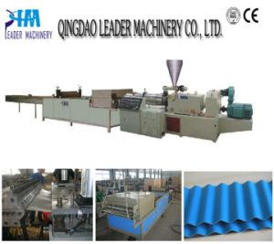 Plastic Sheet Extrusion Line PVC/PP Corrugated Roofing Sheet Extrusion Line pictures & photos