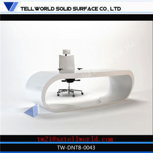 Customize Standard Fancy 2 Person Industrial L Shaped White High Gloss Modern Manager Office Desk pictures & photos