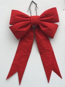 Big Red Velvet Christmas Wreath Bow pictures & photos