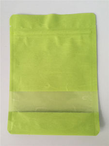 Green Cotton Paper Pouch /Rice Paper Stand up Pouch pictures & photos
