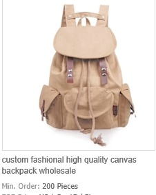 Custom Fashional High Quality Canvas Backpack