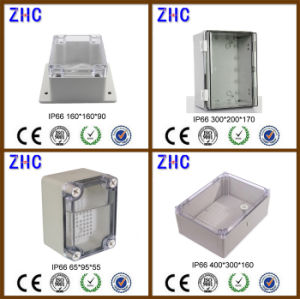 240*160*120 Outdoor Electrical Cable Box Clear Cover Plastic Waterproof ABS IP66 Junction Box pictures & photos
