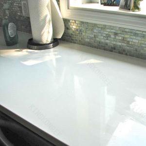 Ce Pure White 3cm Quartz Stone Kitchen Countertop pictures & photos