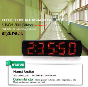 [Ganxin] Low Price LED Countdown with Alarm Wall Clock pictures & photos