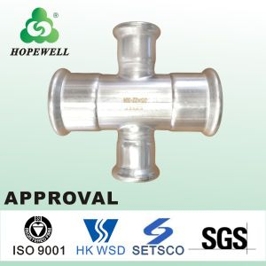 Top Quality Inox Plumbing Sanitary Stainless Steel 304 316 Cross Pipe Fitting pictures & photos