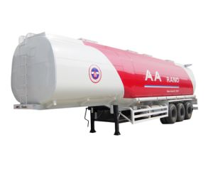 ISO Saso 3xles 50m3 Oil Tank Semi Trailer for Sale pictures & photos