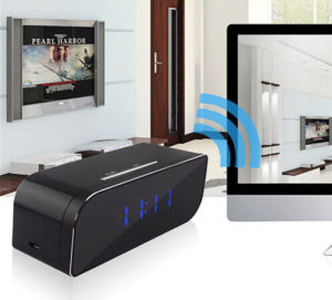 Night Vision 1080P Wireless Network Portable Motion Detector WiFi Table Clock Camera pictures & photos