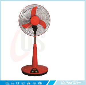 China Supplier 12V DC Solar Battery Electric Stand Fan pictures & photos