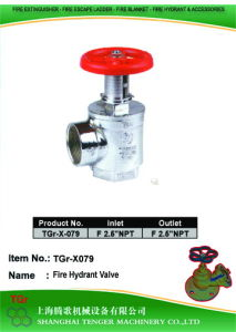"Pressure Reduce Angle Hydrant Valve Chrome Plated: 2-1/2""NPT==2-1/2""NPT pictures & photos"
