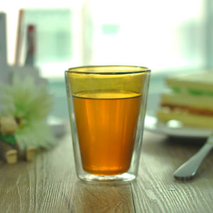 Colored Double Wall Glass Cup for Tea and Coffee pictures & photos
