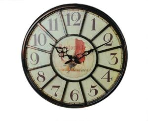 New Style Clock Antique Metal Frame Round Decorative Wall Clock pictures & photos