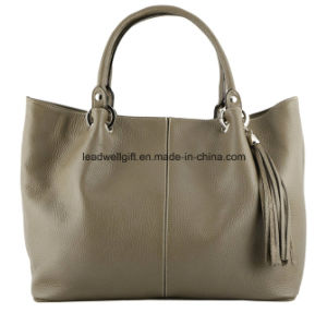 The Ultimate Fashion Stylish Grey Leather Handbag pictures & photos