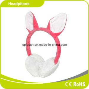 2016 Free Samplem Rabbit Pink Wool Headphone pictures & photos