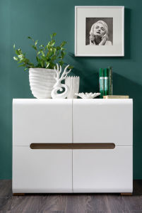 Popular Modern Glossy White Sideboard Storage Cabinet (HF-EY0326) pictures & photos