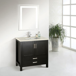 2015 New Arrival Solid Oak Wood Bathroom Vanity