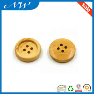 Wholesale Natural Wooden Button with Rim