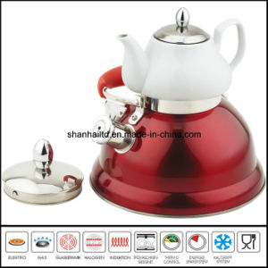 3L+0.75L Double Whistle Kettle with Ceramic Tea Pot Multi-Functional Kettle pictures & photos