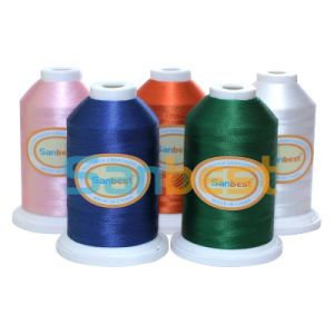 High Quality Polyester Bobbins Embroidery Thread for Clothes pictures & photos