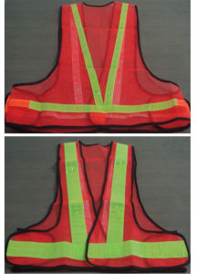 Polyester Safety Vest with Reflective Strip pictures & photos