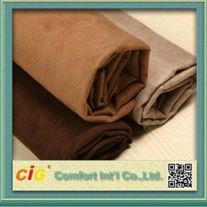 Hot Sell Chinese Polyester Suede Fabric pictures & photos