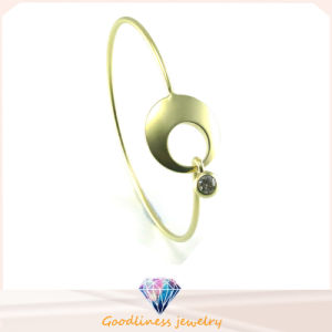 Fashion Beautiful Punk Gold and Silver Circle Cuff Bangle 925 Silver Bangle (G41331) pictures & photos