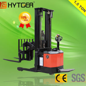 1.5 Ton Hot Sale Electric Reach Stacker (CQE15) pictures & photos