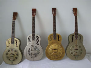 BV/SGS Certificate Aiersi Hot Sale Brass Body Blues Slide Resonator Resophonic Guitar pictures & photos