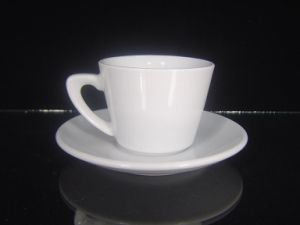 Porcelain Cappuccino Cup with Special Handle